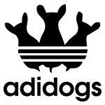 adidas és kutyák autómatrica kép