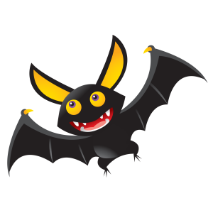 Halloween - denevér 02 matrica kép