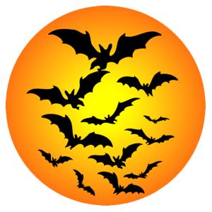 Halloween - denevérek 02 matrica kép