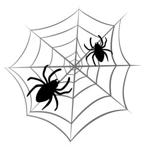 Halloween - pók 04 matrica kép
