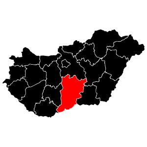 Megyék - Bács-Kiskun matrica kép