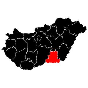 Megyék - Csongrád matrica kép