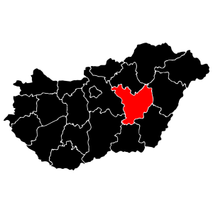 Megyék - Jász-Nagykun-Szolnok matrica kép