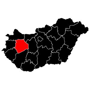 Megyék - Veszprém matrica kép