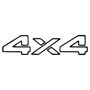 4x4 Off road autó matrica kép