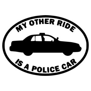 A másik autóm egy rendőrautó autómatrica kép
