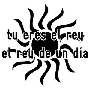 A nap királya spanyol feliratos matrica kép