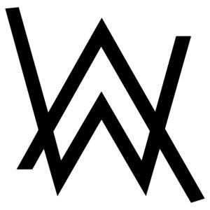 Alan Walker logós autómatrica vagy falmatrica kép