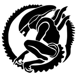 Alien 02 matrica kép