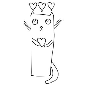 Angyali cica gyerekrajz gyerekszoba falmatrica kép