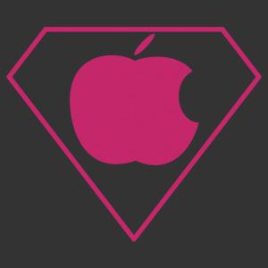 Apple logó Superman autómatrica kép