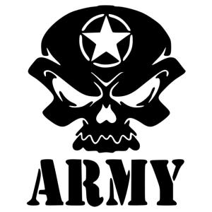Army koponya matrica kép