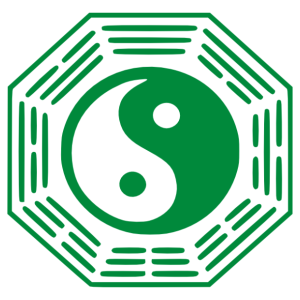 Ba gua szimbólum feng-shui falmatrica kép