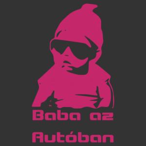 Baba az autóban 002 matrica kép