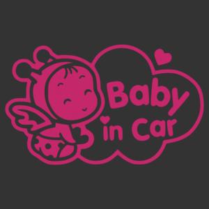 Baba az autóban 007 matrica kép