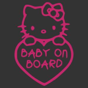 Baba az autóban - Hello Kitty 001 matrica kép
