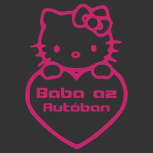 Baba az autóban - Hello Kitty 002 matrica kép