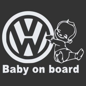 Baba az autóban - Volkswagen matrica kép