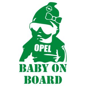 Baby Girl On Board - Opel matrica kép