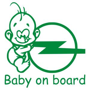 Baby On Board - Opel 2 matrica kép