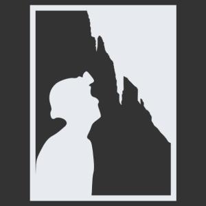 Barlangász szakma/hobbi matrica kép