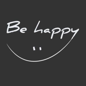 Be happy vidám falmatrica kép