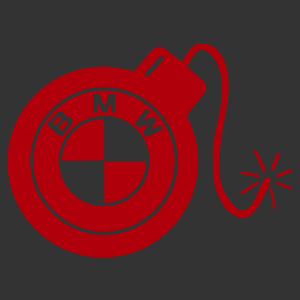 BMW Bomba logós matrica kép