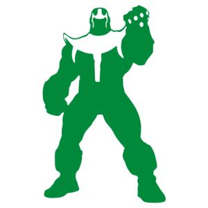 Bosszúállók - Thanos matrica kép