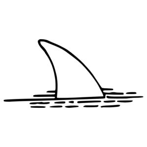 Cápa uszony matrica kép