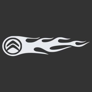 Citroen lángok matrica kép