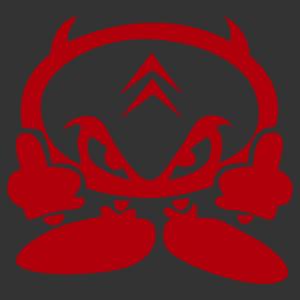 Citroen ördög matrica kép