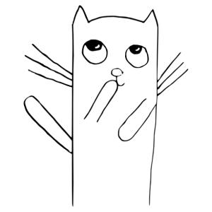 Cuki cica gyerekszobai falmatrica kép