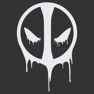 Deadpool csepegős logó matrica kép