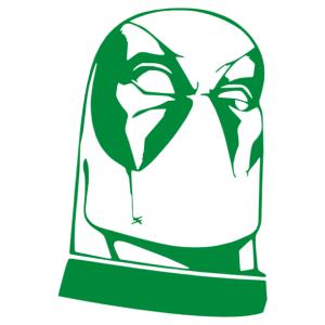 Deadpool fej matrica kép