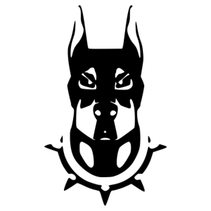 Dobermann 005 matrica kép