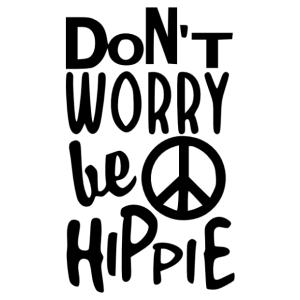 Don't worry, be hippie vicces feliratos autómatrica kép