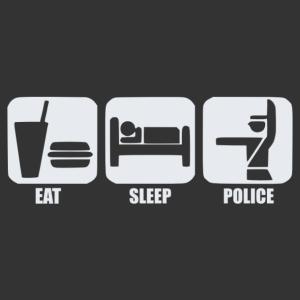 Eat, sleep, police rendőr autómatrica kép