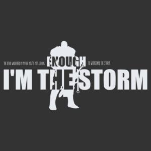 Én vagyok a vihar motivációs falmatrica kép
