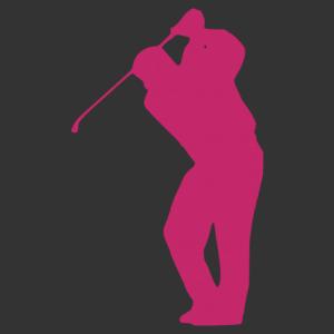 Férfi golfozó matrica kép