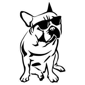 Francia bulldog 005 matrica kép