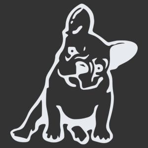 Francia bulldog ül matrica kép