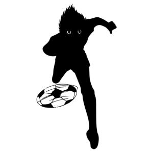 Futball-foci Tsubasa kapitány sziluett autó matrica kép