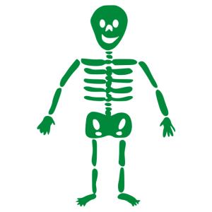 Halloween - csontváz matrica kép