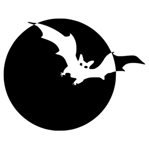 Halloween - denevér matrica kép
