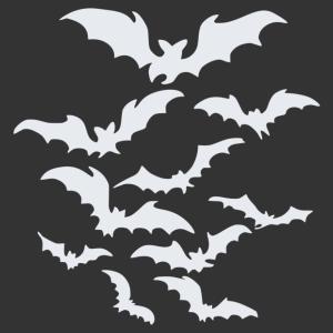 Halloween - denevérek matrica kép