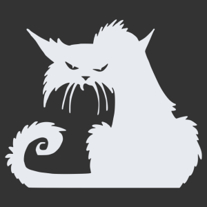 Halloween - fekete macska 01 matrica kép