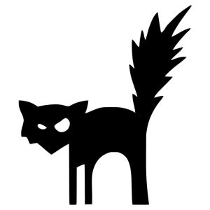 Halloween - fekete macska 02 matrica kép