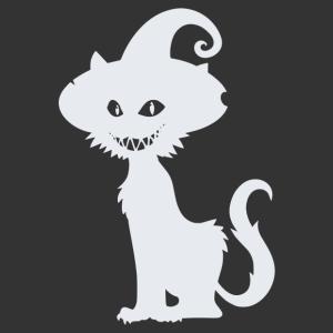 Halloween - fekete macska 03 matrica kép