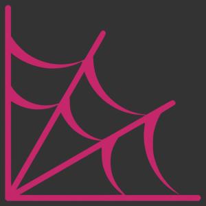 Halloween - pókháló sarokba matrica kép