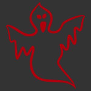 Halloween - szellem 01 matrica kép